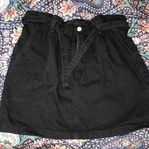 Black Ultra High-Rise Hollister Skirt